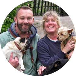 Barrie and Nicky from Tiddletime Dog Walking Service Forest Hill, Honor Oak, West Norwood